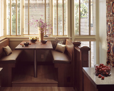 Kitchen banquette. booth dining table kitchen midcentury with ...