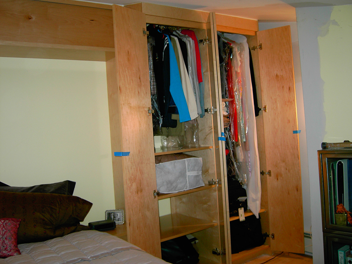 building new walk reach in custom closets clothes bedroom storage